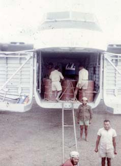 Loading Fuel Barrels